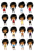 firegirl6464 - 16 outfits by Calvariae