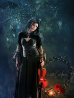 Gothic violonist by Eve-VelvetRose