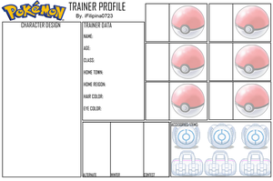 Blank Pokemon Trainer Profile by DoubleRaineBow