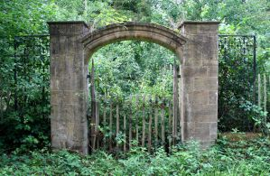 Overgrown Gate 1 Stock by OghamMoon