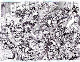 MARVEL vs DC spread complete by gammaknight
