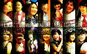 JKT48 wallpaper art my oshi by Muhammadtaufiq123