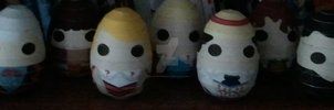 One Egg Eleven Faces by HellswordPapercraft