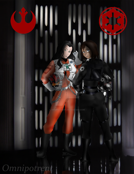 Legend of Korra / Star Wars: Treason Red by Omnipotrent