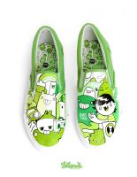 Monster City SlipOns by Bobsmade