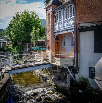 Ariege 038 - Old house and bridge by HermitCrabStock