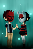 Demon Masks by Kehmy