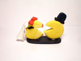 Pac Man Inspired Cake Topper by abarra01