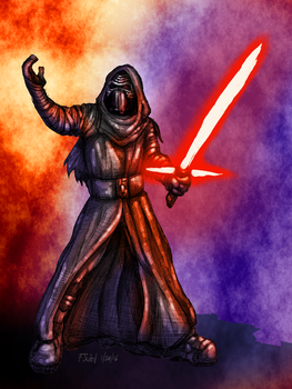 Kylo Ren and the Force Illustration by FSudol