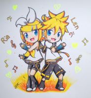 Rin and Len by IToonZelink23