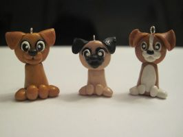 Dog charms, group 1 by Blazesnbreezes
