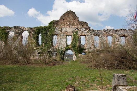 Castle ruins stock by Orhideja