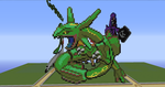 Rayquaza Pixel Art by eewq