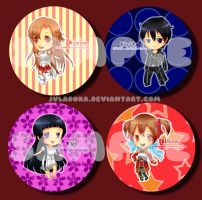 S.A.O BADGES for AFASG by JVladoka