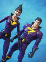 Custom 12 inch DC Universe Wonder Twins Figures by cusT0M