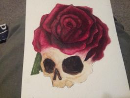 Skull Rose by spratsanime