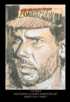 Sketch Card-Indiana Jones 31 by TrevorGrove