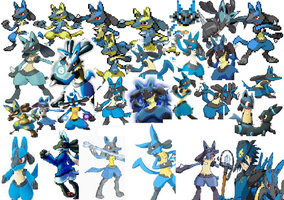 lucario galore by 123buizel123