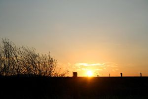 My first sunset picture by micro5797
