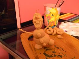 Olaf Sculpt WIP by Master-She-Wolf