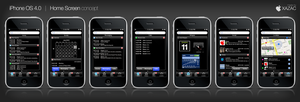 iPhone OS 4.0 - Home Screen by xazac87