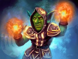 WoW Goblin Mage by Stungeon