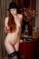 Stockings, Bourbon, Smith and Wesson by Mac--Photo