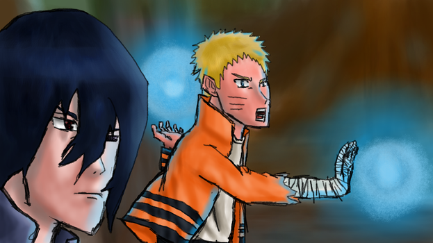 Naruto and Sasuke - Fanart. by SpeedArtSA