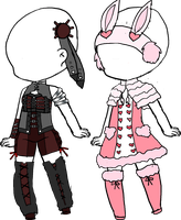 2 Outfit adopts by legendary444