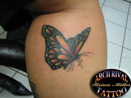 third monark butterfly by theothertattooguy