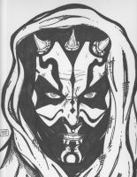 Darth Maul - inked by Justin1592