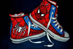 Spidey Shoes by xWingless-Angelx