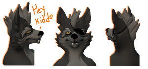 Starfox Animated Series Wolf Head Model by Some-Art
