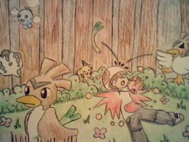 Farfetch'd in the Ilex forest by Star-Swirls