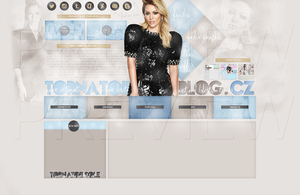 New design for my site ft. Hilary Duff by Helcabu