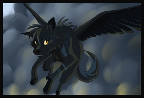 Flying Wolf by kimba16