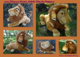2003 Disney Store Adult Simba Puppet by DoloAndElectrik