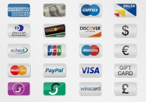 20 Free Payment Option Icons by vesperTiLo