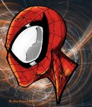 spiderman head colored by JoeyVazquez