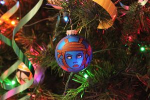 Aayla Secura - Custom Christmas Tree Ornament by R1VENkassle