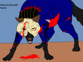 Elroy wolf form wounded by Natalia-Clark
