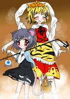 Nazrin and Shou by Vulpix-Noodles