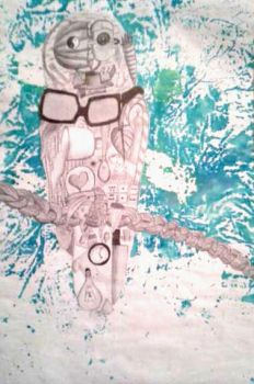 Owl Made of Different Objects by dbzrocker910