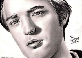 Robert Pattinson 2 by crayon2papier