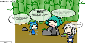 Cirno Dosen't Eat Frogs (walfas) by MienfooInTraining
