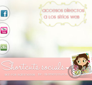 Shortcuts socials skin for rainmeter by alenet21tutos