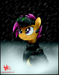 Scootaloo in the rain. by unitoone