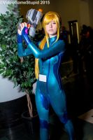 Anime Boston 2015 - Zerosuit Samus 1 by VideoGameStupid