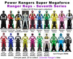 Power Ranger Keys Seventh Series - Alternative by LavenderRanger