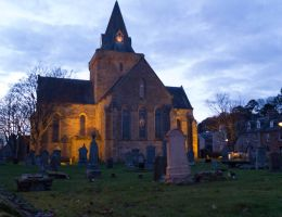 Dornoch Cathedral sunset by piglet365